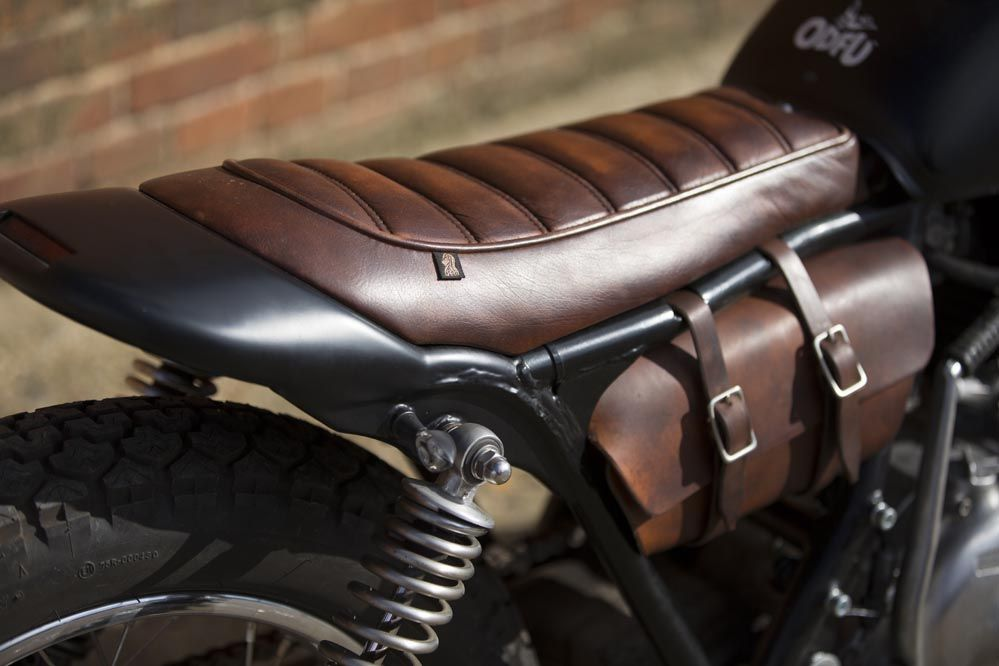 Cafe Racer Style Retro Looking Motorcycle Seat Scramble