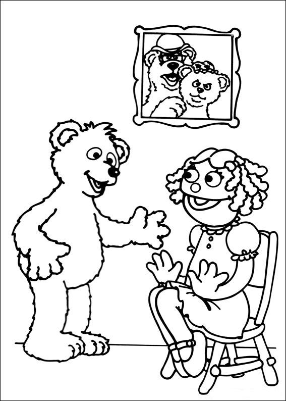 Baby sesame street coloring pages ~ Baby Bear | Sesame street coloring pages, Coloring pages ...