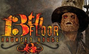 Groupon - $17 for a VIP Visit to 13th Floor Haunted House & Groundup Haunted House (Up to $29.99 Value) in San Antonio (Downtown).
