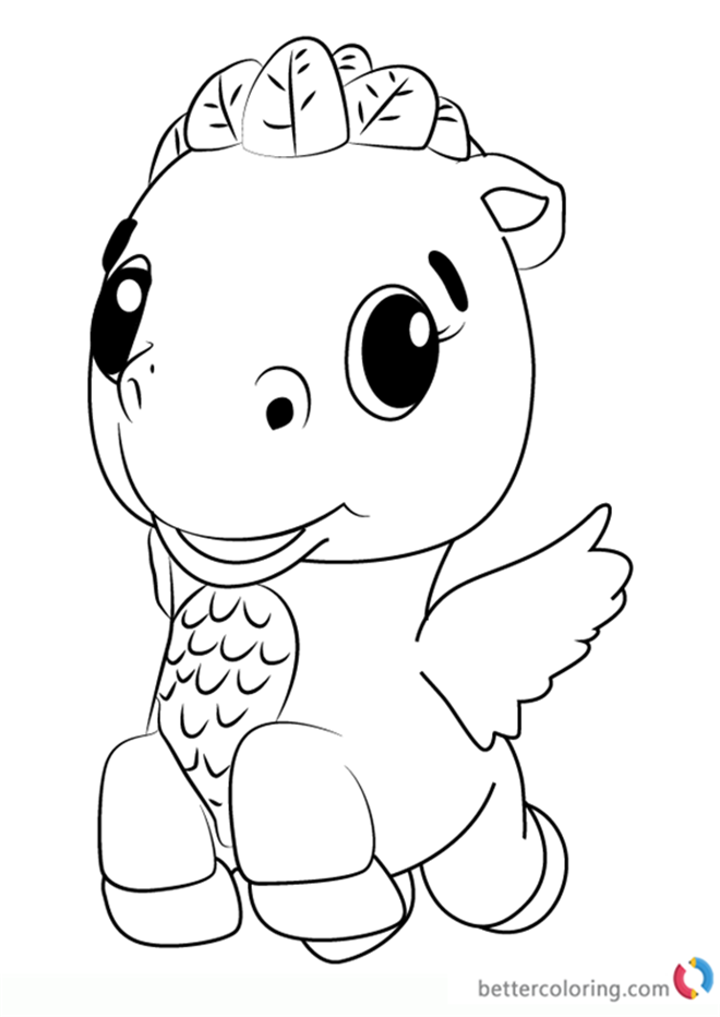Cloud Ponette From Hatchimals Coloring Pages Printable Charlotte