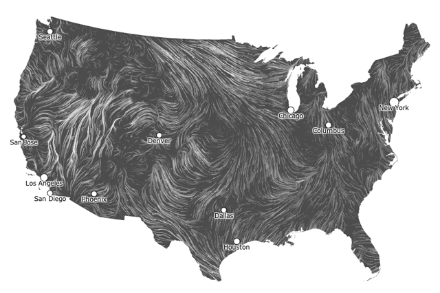 Meet The Undulating Wind Map It S Blowing Our Minds Alternativeenergy Wind Map Detailed Map Weather Wind