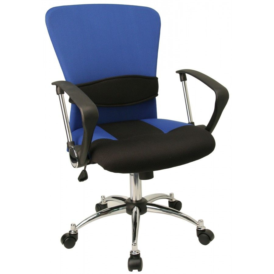 Flashfurniture Contemporary Two Tone Mid Back Mesh Office Chair With Adjustable Lumbar Support Mesh Blue Lfw23b Flash Furniture Mesh Task Chair Office Chair