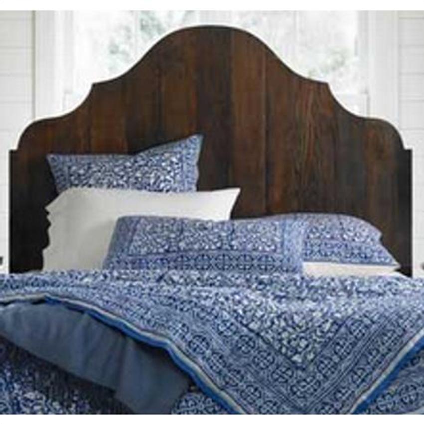 Wood Curved Headboard Gustavian Bed Diy Bed Plank Headboard