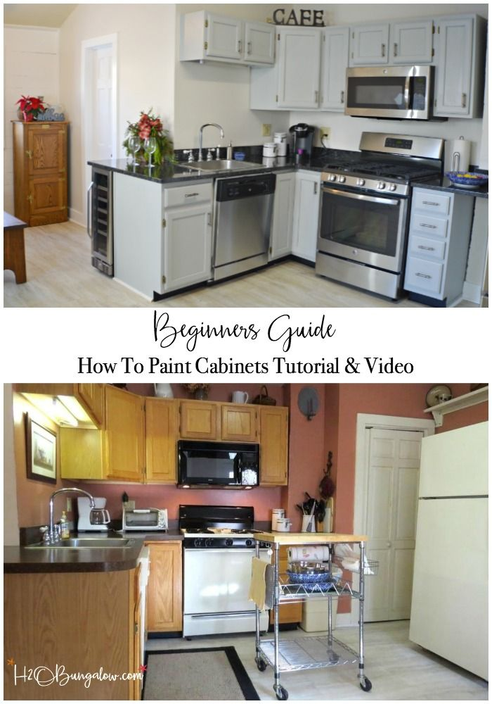 Step By Step Guide How To Paint Kitchen Cabinets Painting Kitchen Cabinets Kitchen Design Diy Kitchen Cabinets Makeover