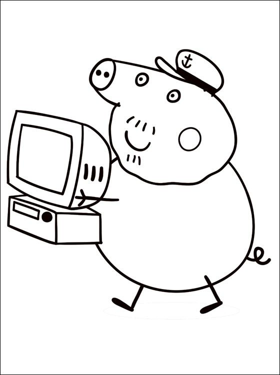 peppa pig coloring pages abcs - photo#28