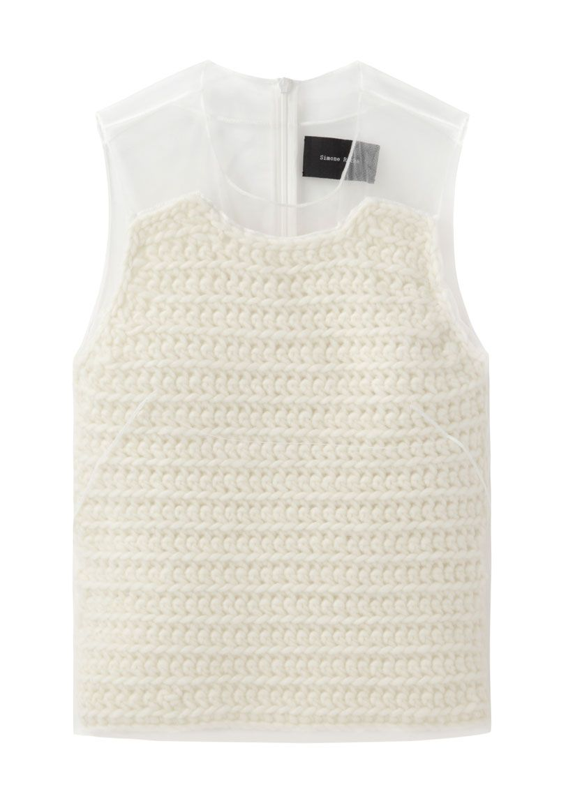 Simone Rocha | Knit Top with Tulle Layer