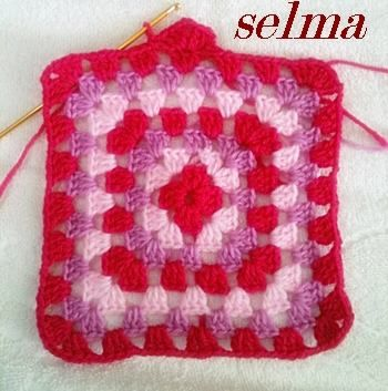 Interesting Granny square blanket! More Patterns Like This!