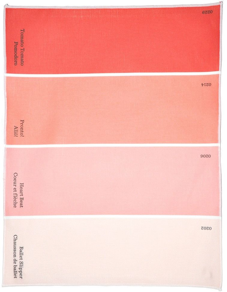 Paint Chip Placemat From Leif With Color Names In English And French These Paint Chip Place