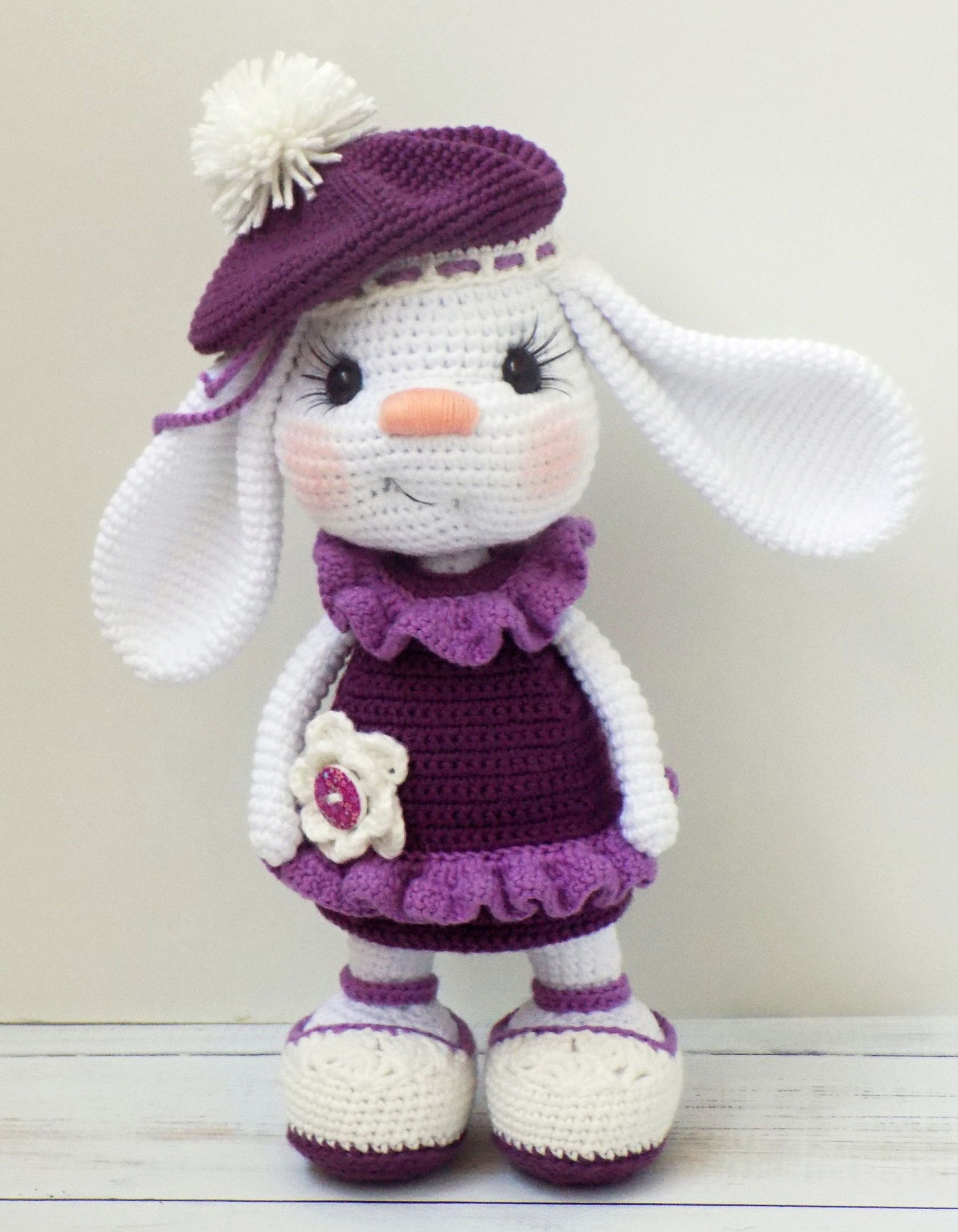 Pretty Bunny amigurumi in pink dress | Crochet | Pinterest | Crochet ...