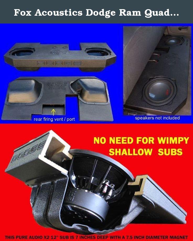 Fox Acoustics Dodge Ram Quad Crew Cab Dual 12 Vented Sub Speaker Box 2002 2015 The Fox Acoustics Dual 12 Vented Sub Subwoofer Box Car Audio Car Electronics