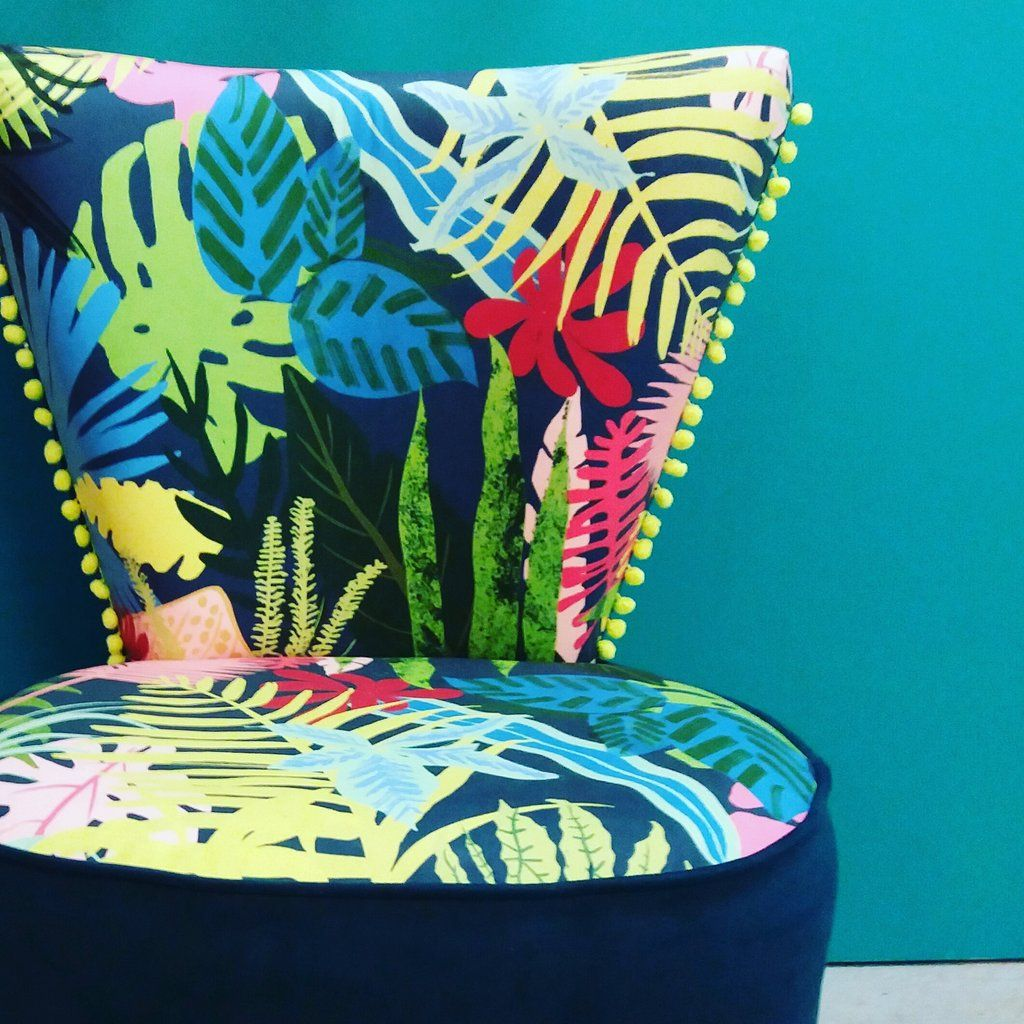 Jungle fabric in furniture pinterest home office decor