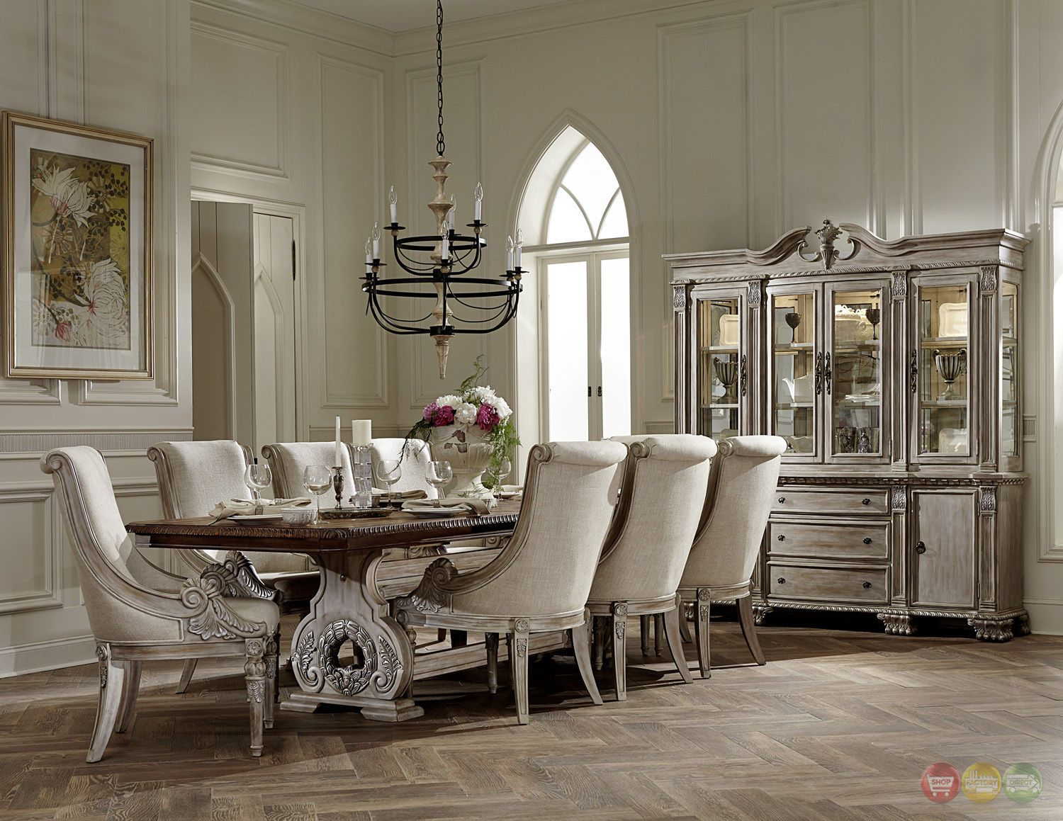 Orleans Ii White Wash Traditional 7Pc Formal Dining Room Furniture Endearing Formal Dining Room Set Inspiration