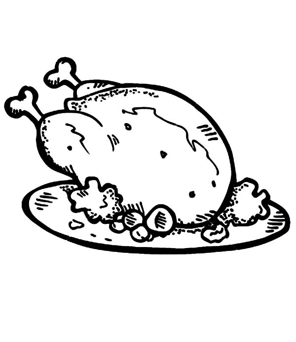 Fried Chicken And Roasted Potato Coloring Pages Download Print Online Coloring Pages For Free In 2020 Chicken Coloring Pages Chicken Coloring Chicken Coloring Book