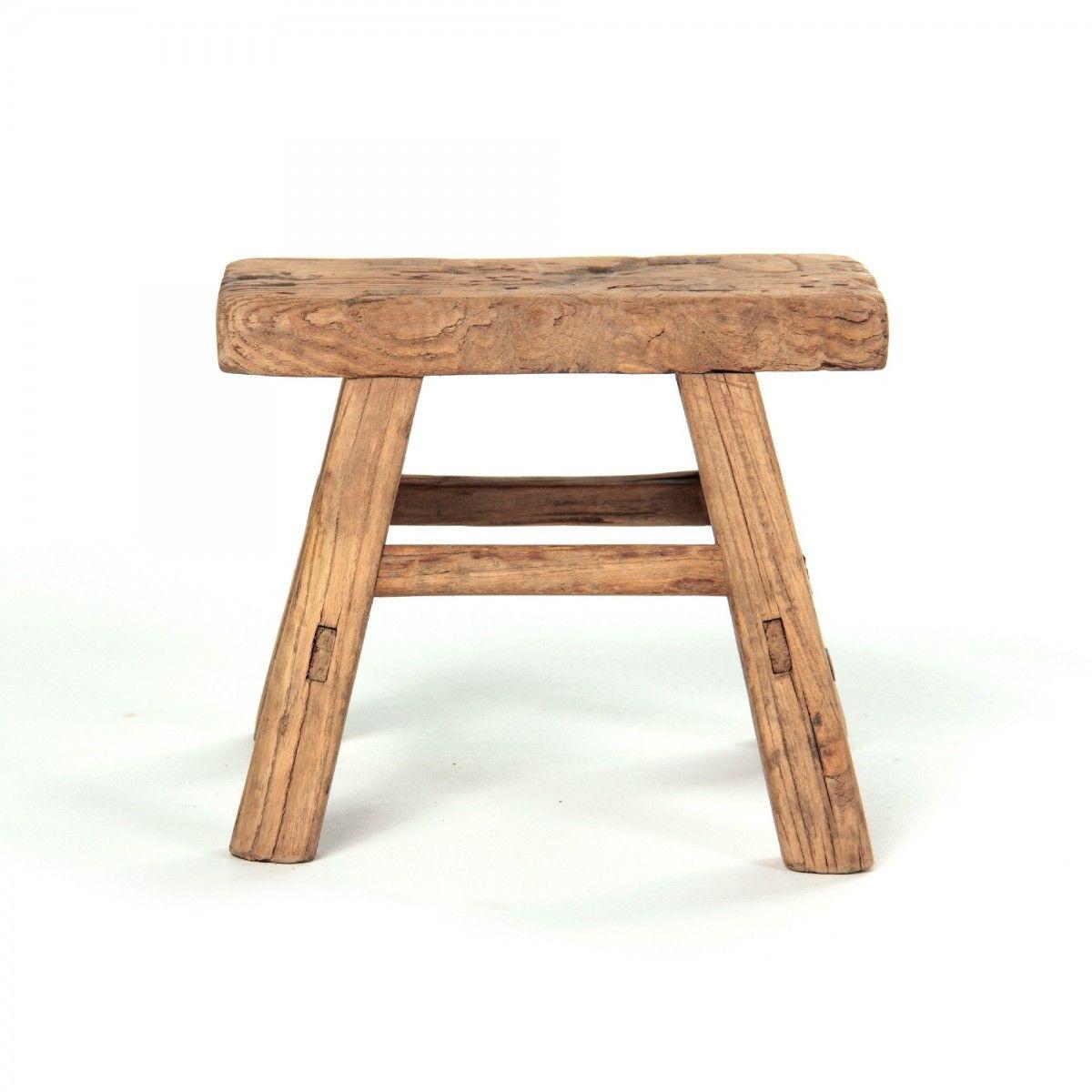 schemel aus altem holz natur l 12 cm b 28 cm h 21 cm kleines bad pinterest m bel. Black Bedroom Furniture Sets. Home Design Ideas