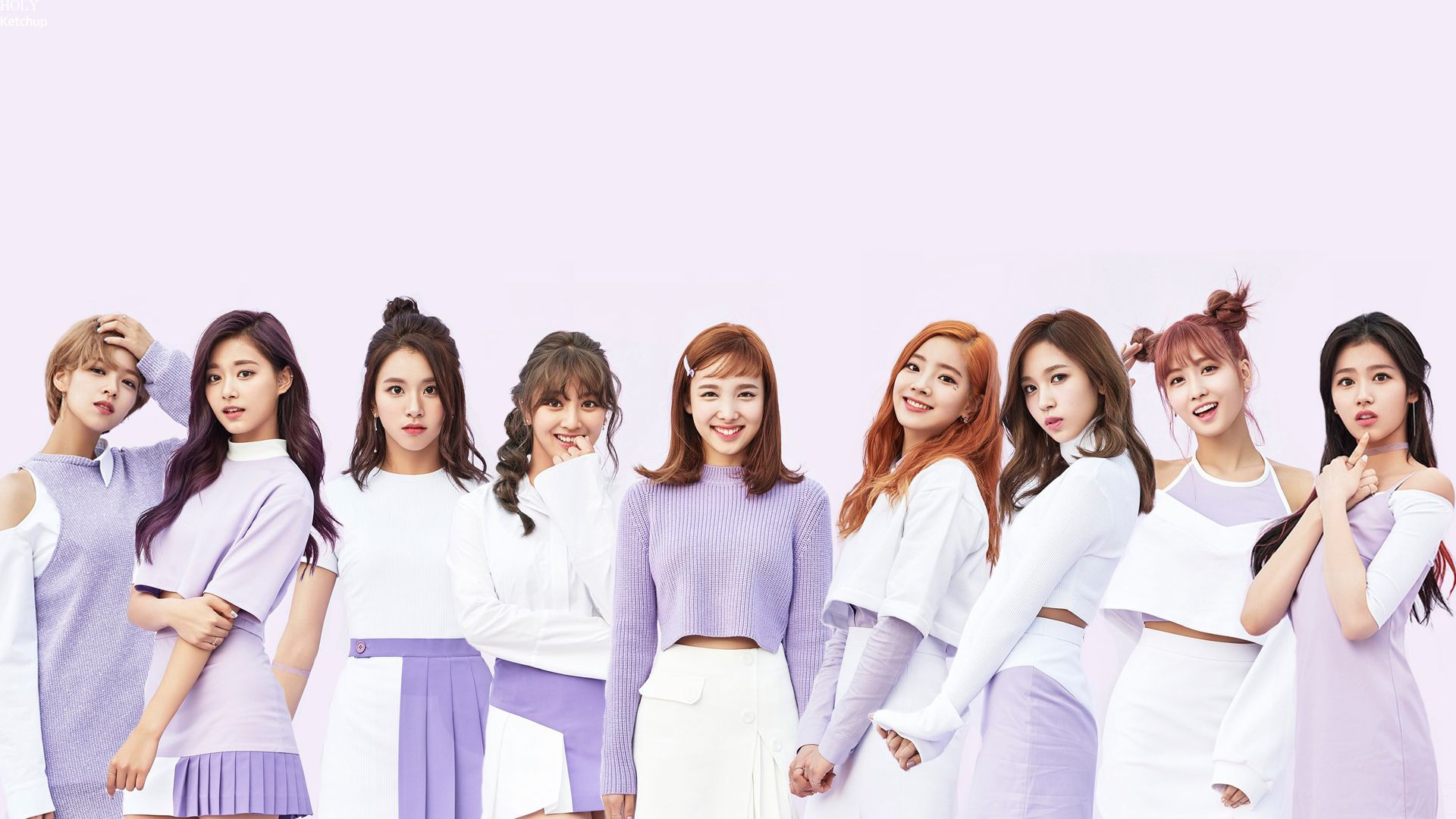 Twice Is A South Korean Girl Group Formed By Jyp Entertainment Through The 2015 Reality Show Sixteen The Group Is C Korean Girl Groups Kpop Girls Wallpaper Pc