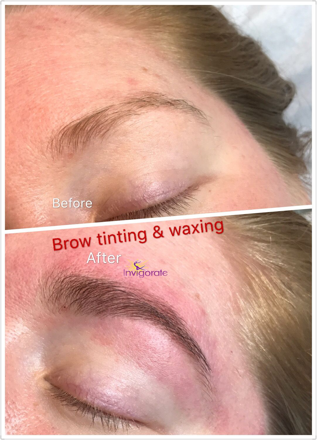 What A Difference Brow Tinting And Waxing Can Do To Your Brows