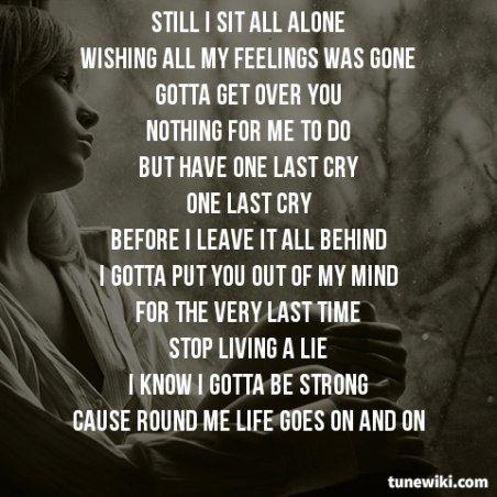 Lyric Art of One Last Cry by Brian Mcknight | My Music | Pinterest ...