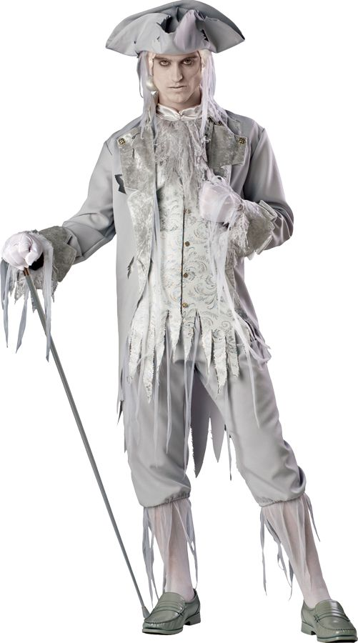 CORPSE COUNT SCARY ZOMBIE WHITE BUCCANEER PIRATE GHOST ADULT MENS ... fa2cf628519d