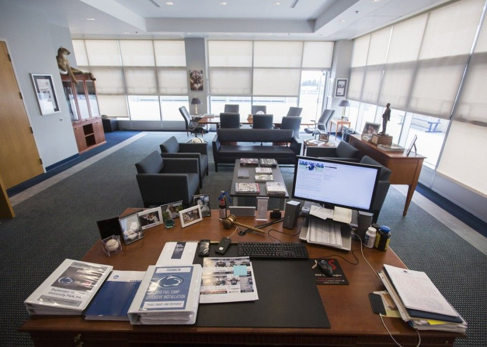 The View From Penn State Head Football Coach James Franklin S Desk A Look Inside Office