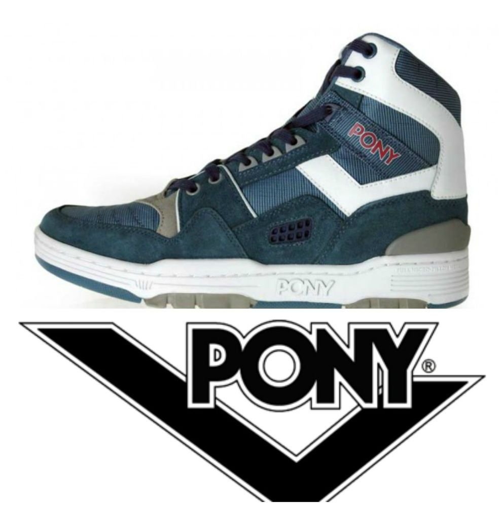 size 40 9ca2f f10c9 PONY M100 Hi TOP TRAINERS SNEAKERS BASKETBALL SHOES BOOTS RETRO VTG 80s UK  8.5  Pony  Trainers