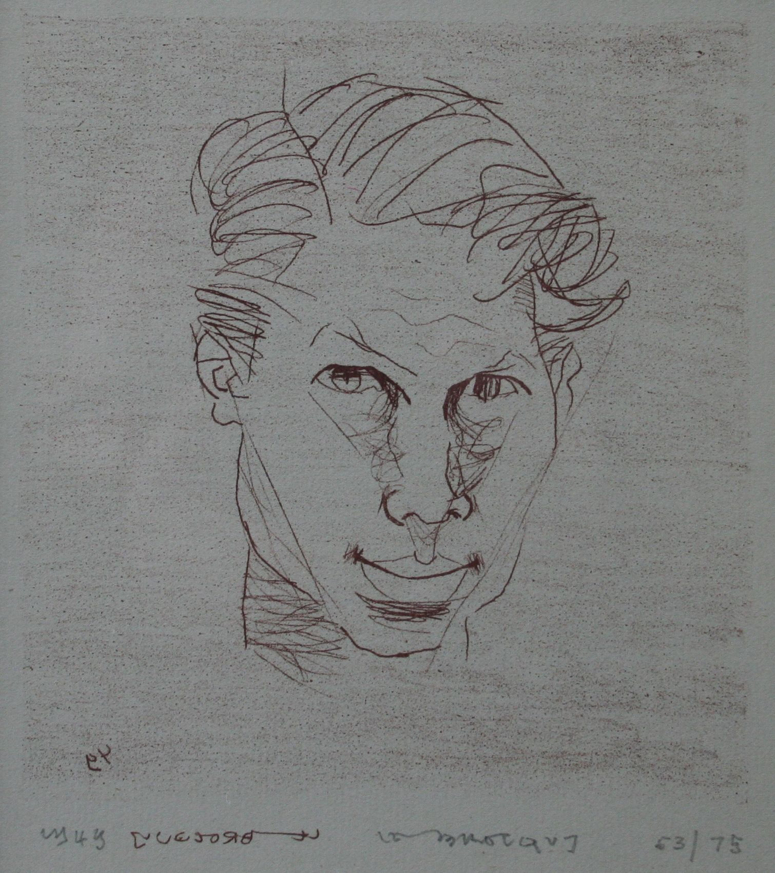 Self portrait lithograph by louis le brocquy http thewhitleyartgallery com artists prints le brocquy louis aspx