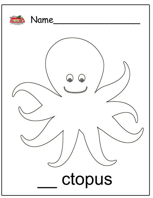 octopus coloring page with images  ocean theme