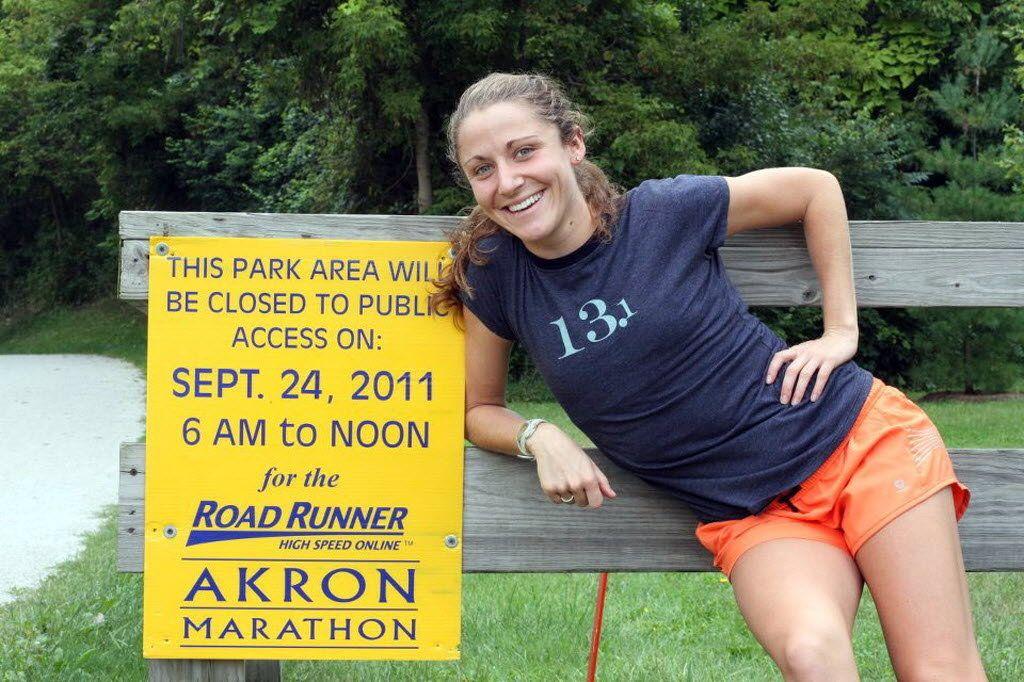 Alliance native Becki Michael competing in Akron Marathon