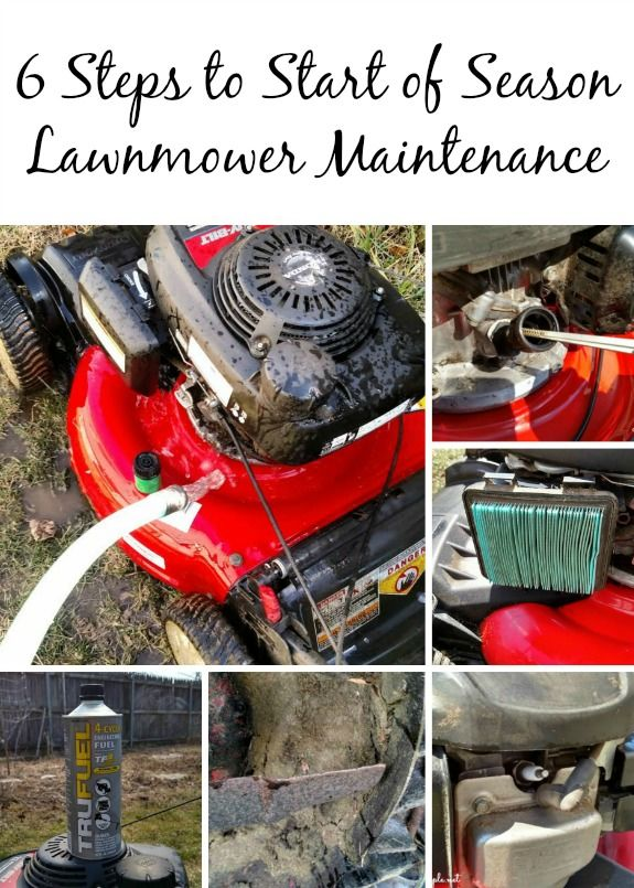 6 Steps to Start of Season Lawnmower Maintenance is part of lawn Maintenance House - This is a sponsored post written by me on behalf of TRUFUEL® for IZEA  All opinions are 100% mine  6 Steps to Start of Season Lawnmower Maintenance TruPros Early Spring before the flowers begin to bloom and the grass begins to grow, is a perfect time to get your lawnmower in tiptop shape to carry you through the next 2 seasons  Below are the tasks I like to perform on my lawnmower before it takes its first cut through my newly awakened lawn in the Spring  Change the Oil  Lawnmower oil should be changed around every 30 hours or so, but