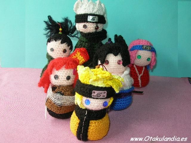 Free Naruto Amigurumi Pattern : Naruto and friends and enemys crochet characters pinterest