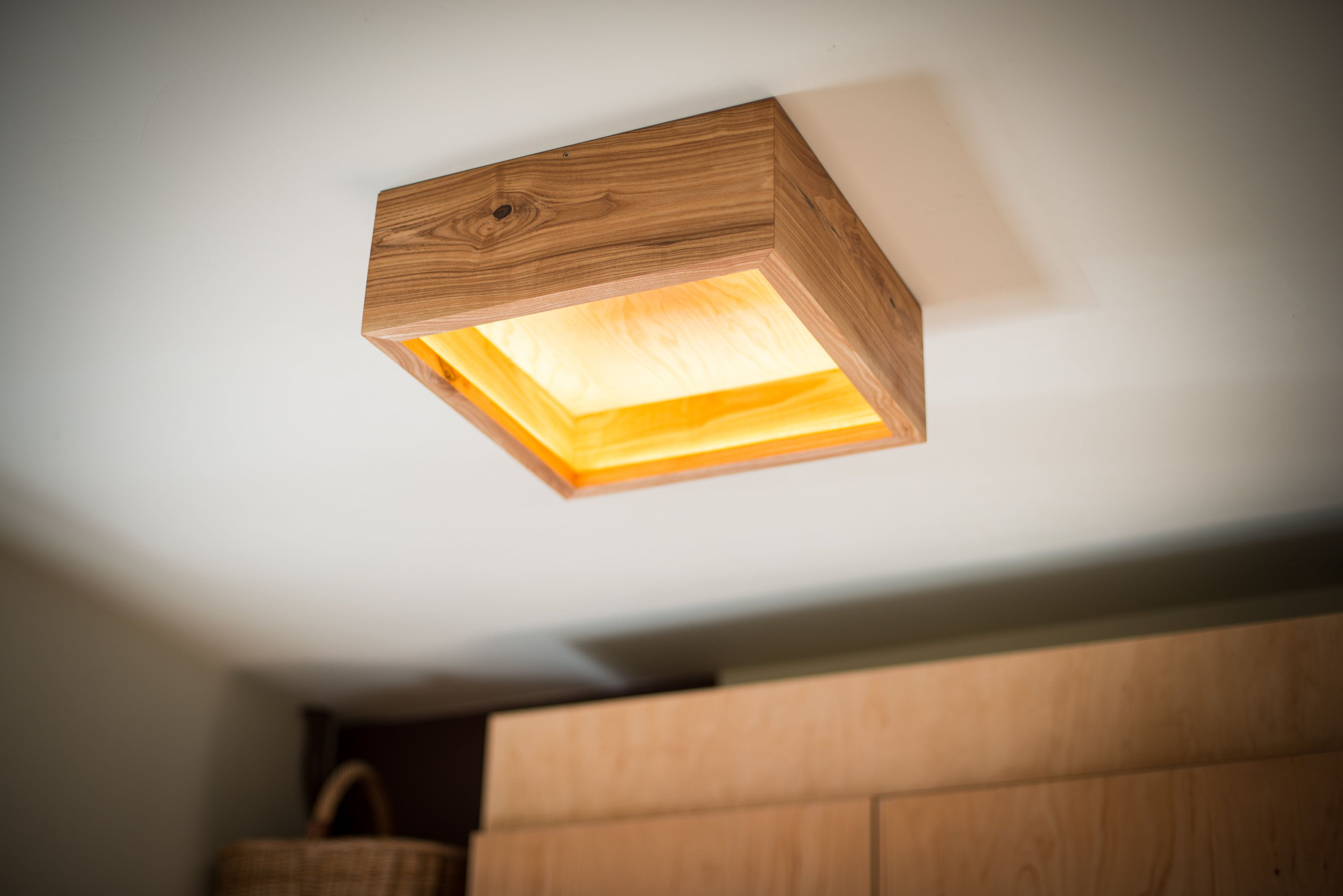 Wooden Chandelier Box 24 Wood Lamp Wooden Ceiling Lamp Wood