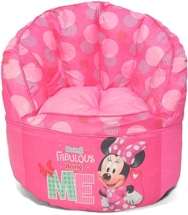 Tremendous Kids Minnie Mouse Sofa Bean Bag Chair Spot Clean 18 X 18 Creativecarmelina Interior Chair Design Creativecarmelinacom