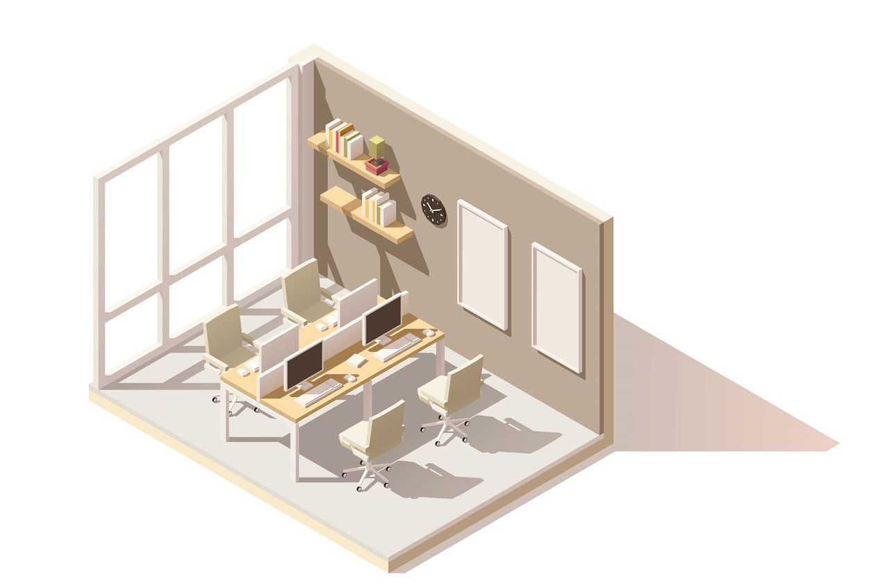 Vector isometric low poly pool room Isometric, Isometric