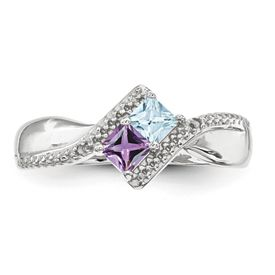sterling silver synthetic 2 s ring family rings