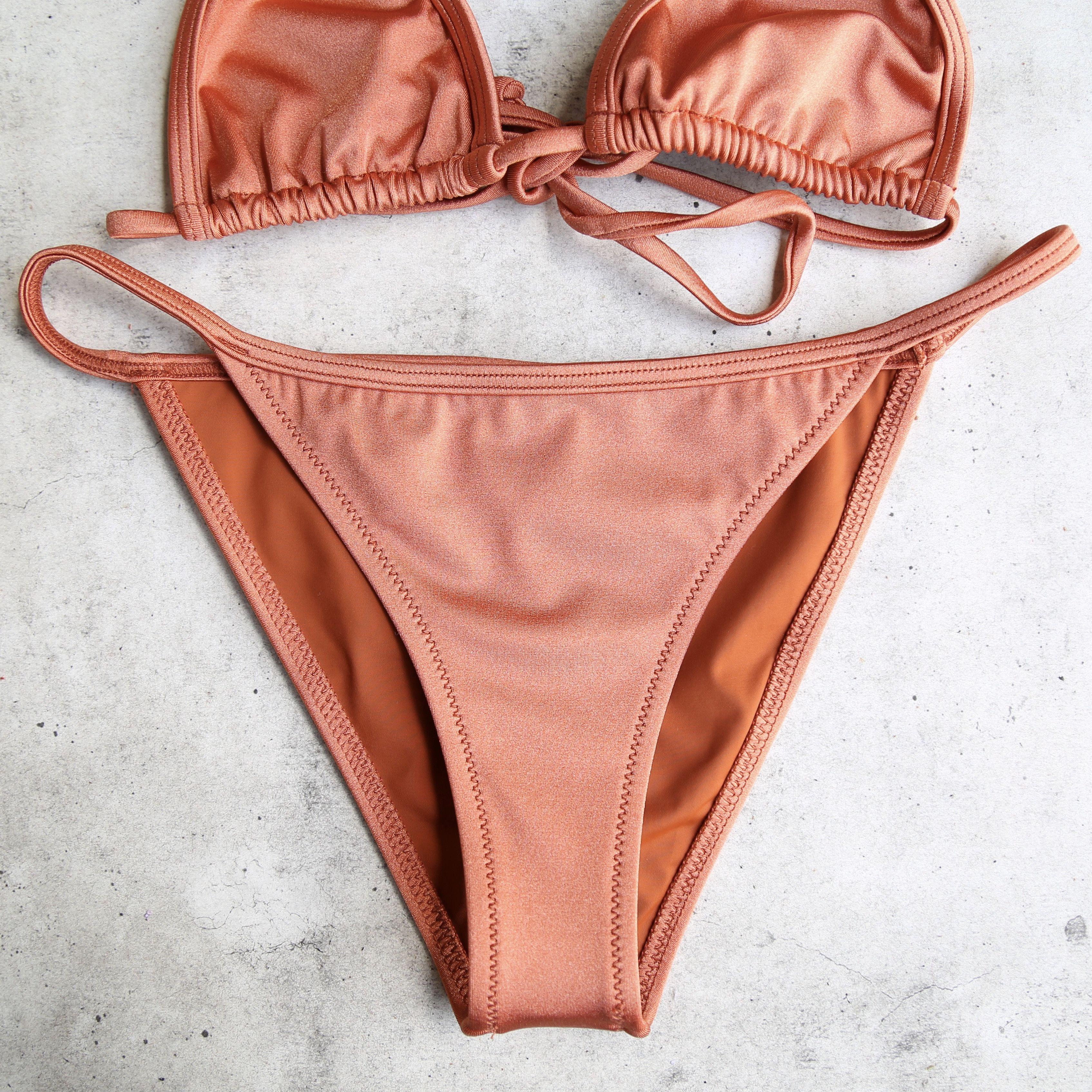 97a413f435 Final sale - itty bitty metallic string bikini separates - more ...