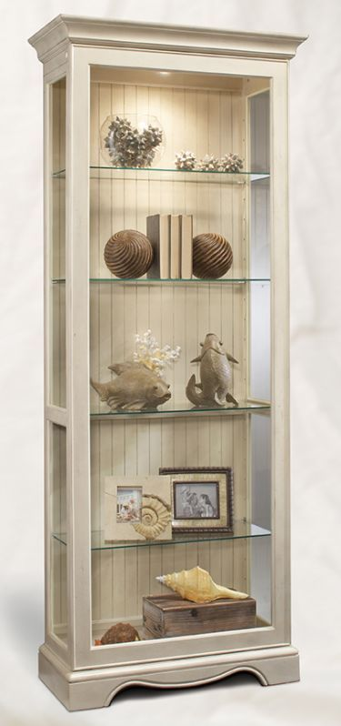 Ambience 2 Way Sliding Door Display Cabinet Shell Curio Cabinet Decor Cabinet Decor Glass Cabinets Display