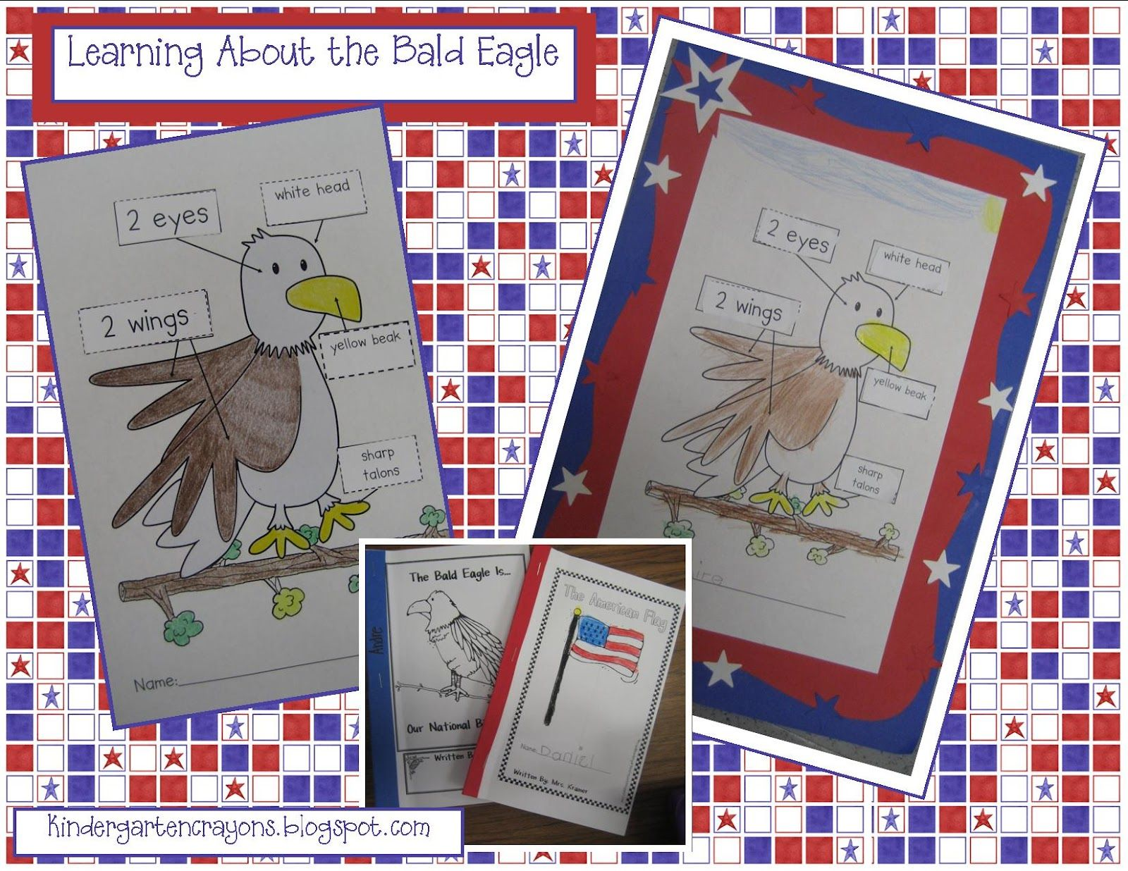 Kindergarten Crayons Bald Eagle