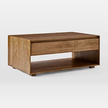 Anton Solid Wood Storage Coffee Table In 2020 Coffee Table With Storage Solid Wood Storage Coffee Table