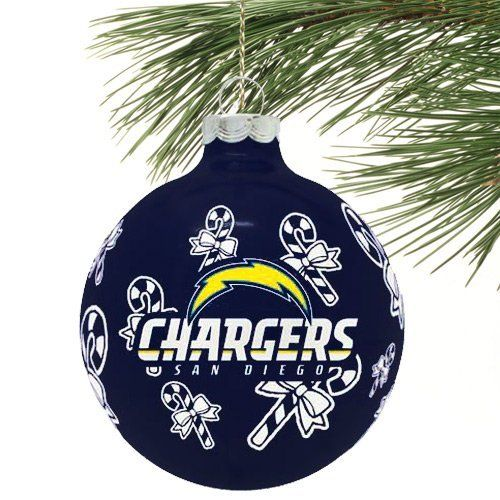 San Diego Chargers Christmas Ornaments: NFL San Diego Chargers Traditional Glass Ball Ornament By