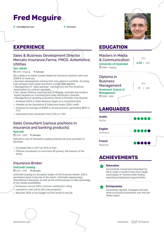 Write a jobwinning insurance sales resume that gets you