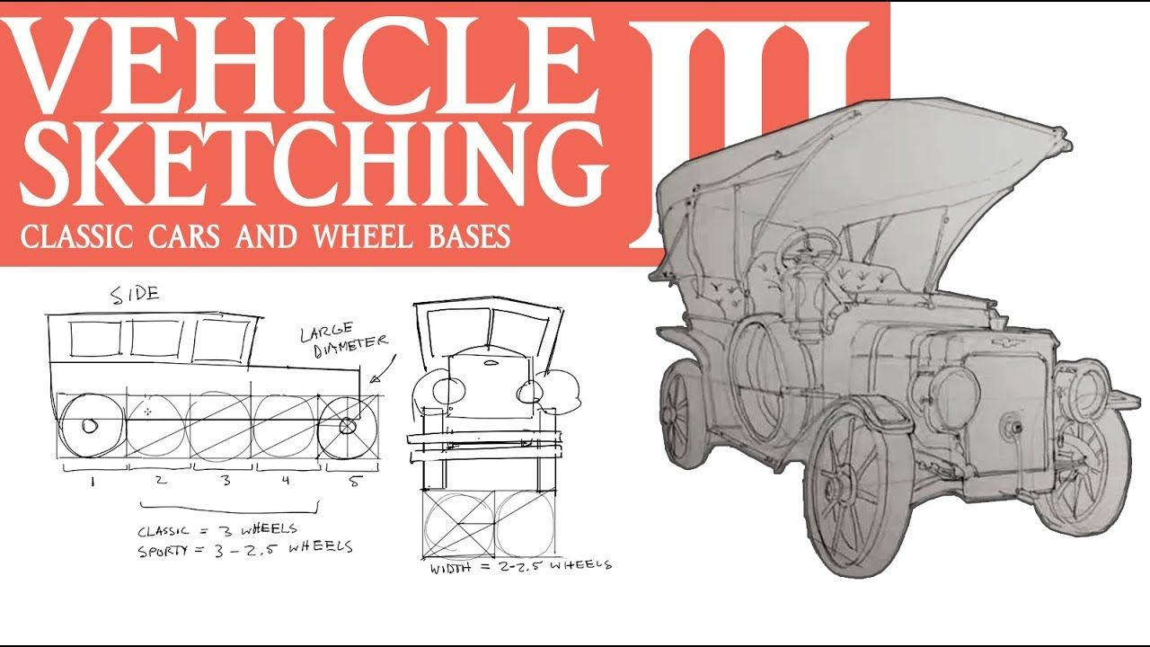 VEHICLE SKETCHING 3: Classic Cars, Wheel Bases, and Blockouts