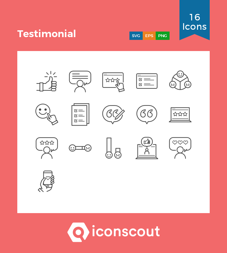 Download Testimonial Icon Pack Available In Svg Png Eps Ai Icon Fonts With Images Icon Pack Icon Testimonials