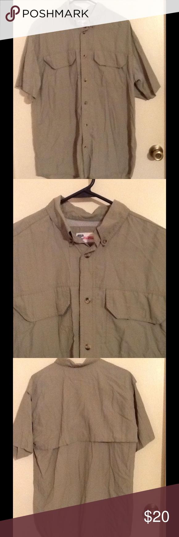 Men's Fishing Shirt (M) This fishing shirt has a mesh lining in the top back area of the shirt. ALL-AMERICAN FISHERMAN Shirts Casual Button Down Shirts