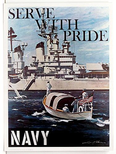 Seve With Pride Navy Day Navy Military Military Poster
