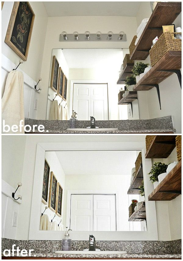 framed bathroom mirrors diy.  Diy DIY Framed Bathroom Mirrors  THE EASY WAY See How To Frame Your  Make Bathrooms Look Amazing U0026 Itu0027s So Simple A Must Pin Inside Framed Bathroom Mirrors Diy