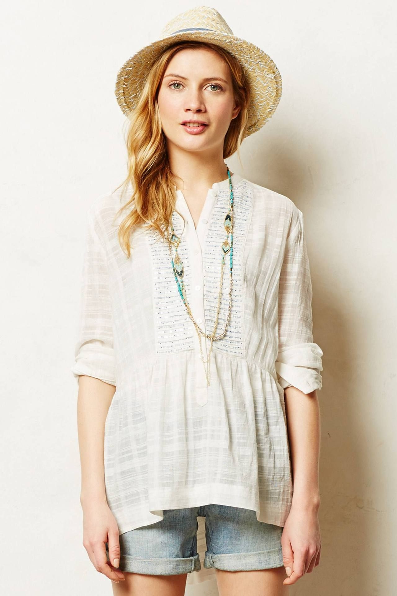 Shimmered Azucar Tunic - anthropologie.com