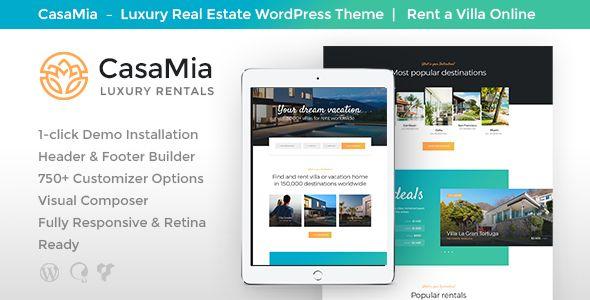 CasaMia   Property Rental WordPress Theme   Wordpress