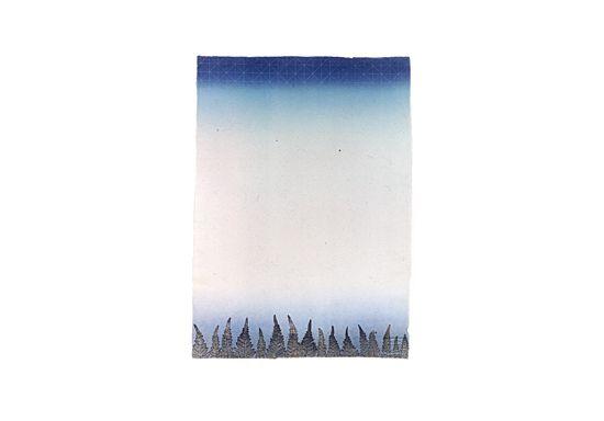 Suuri metsä, Large forest, etching, roller, Irma Tonteri