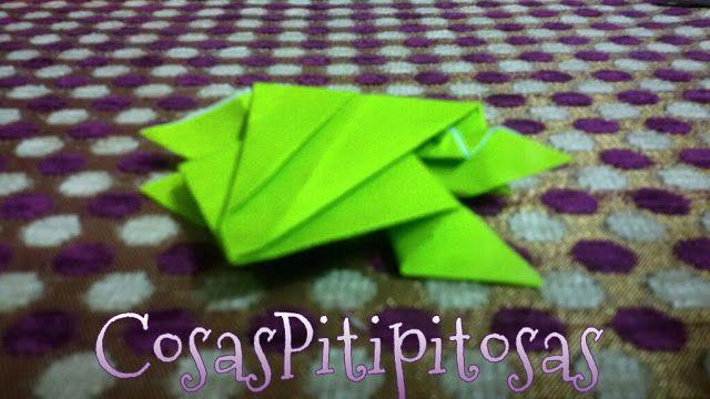 Cosas Pitipitosas: Ranas de origami
