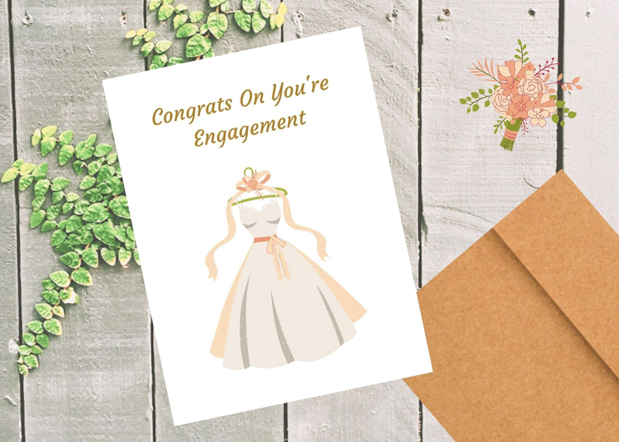 Engagement Card Elegant Engagement Card Foldable Engagement Greeting Card Congratulations In 2020 Engagement Cards Anniversary Cards For Wife Wedding Greeting Cards