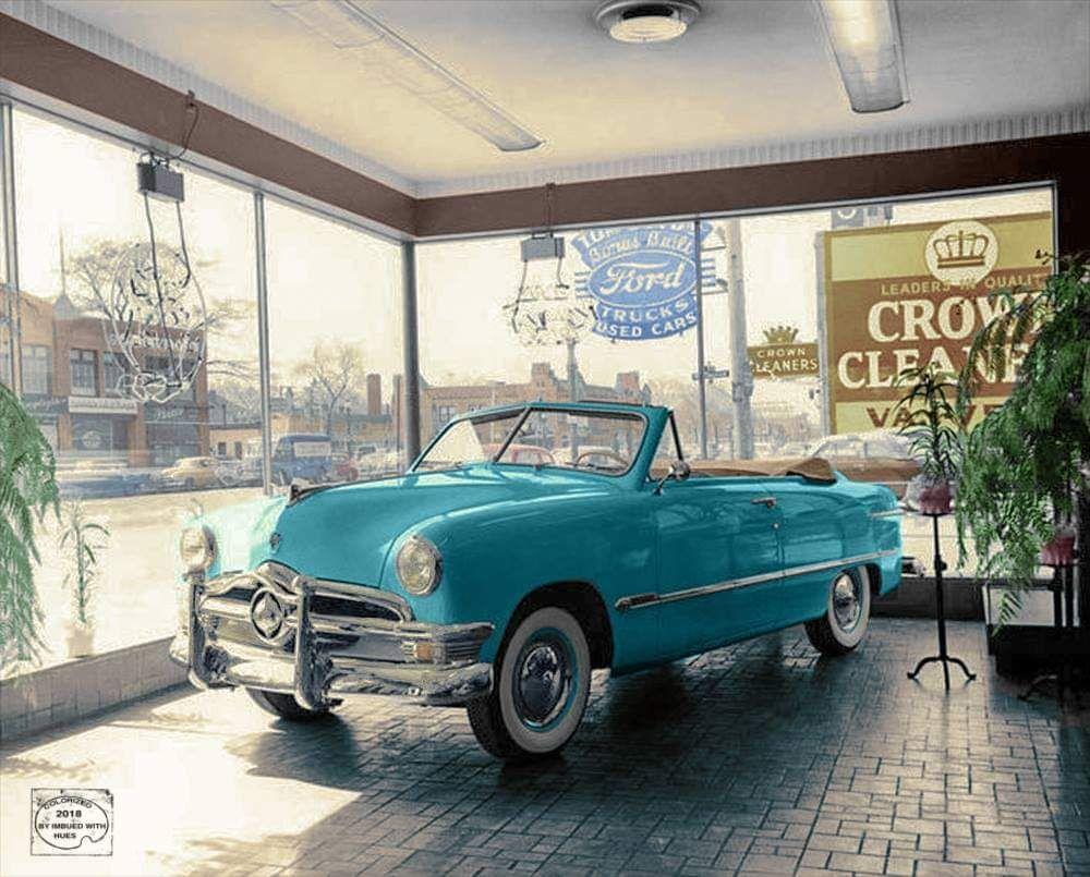 1950 Ford Dealership Showroom Dealership showroom, Car